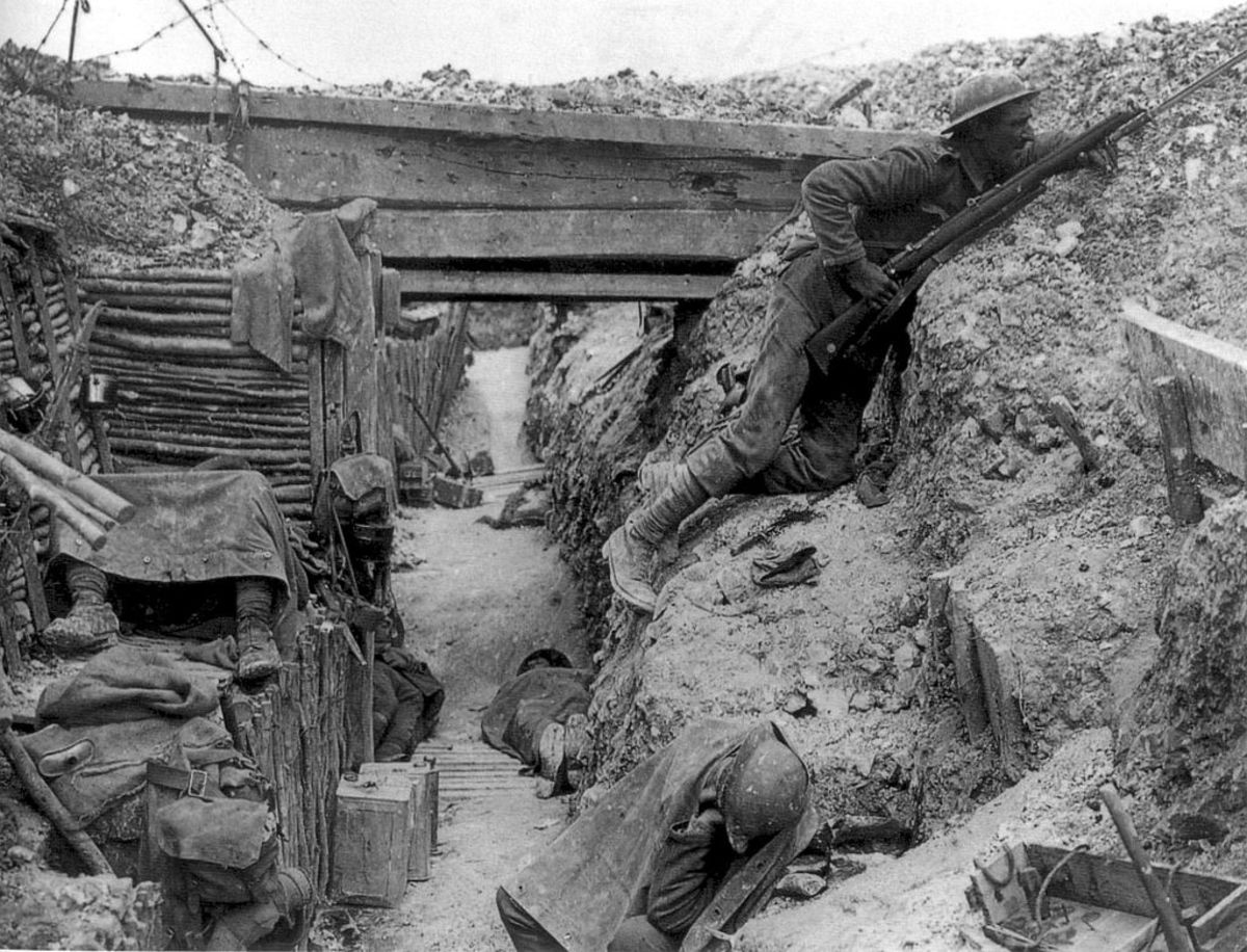 The infamous trenches of World War I.
