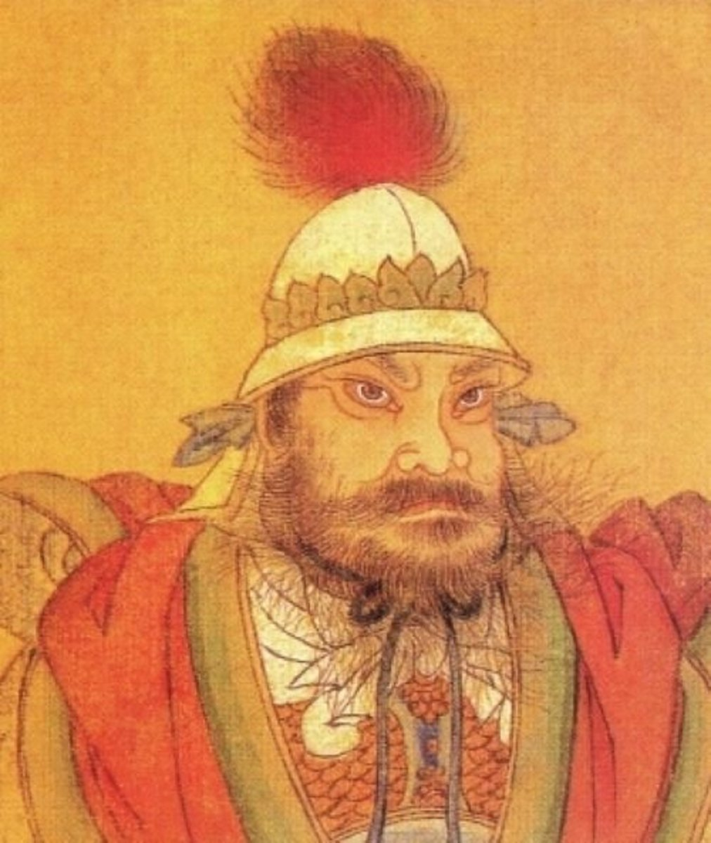 """Portrait of General An Lushan; a major instigator of the """"An Lushan Rebellion."""""""