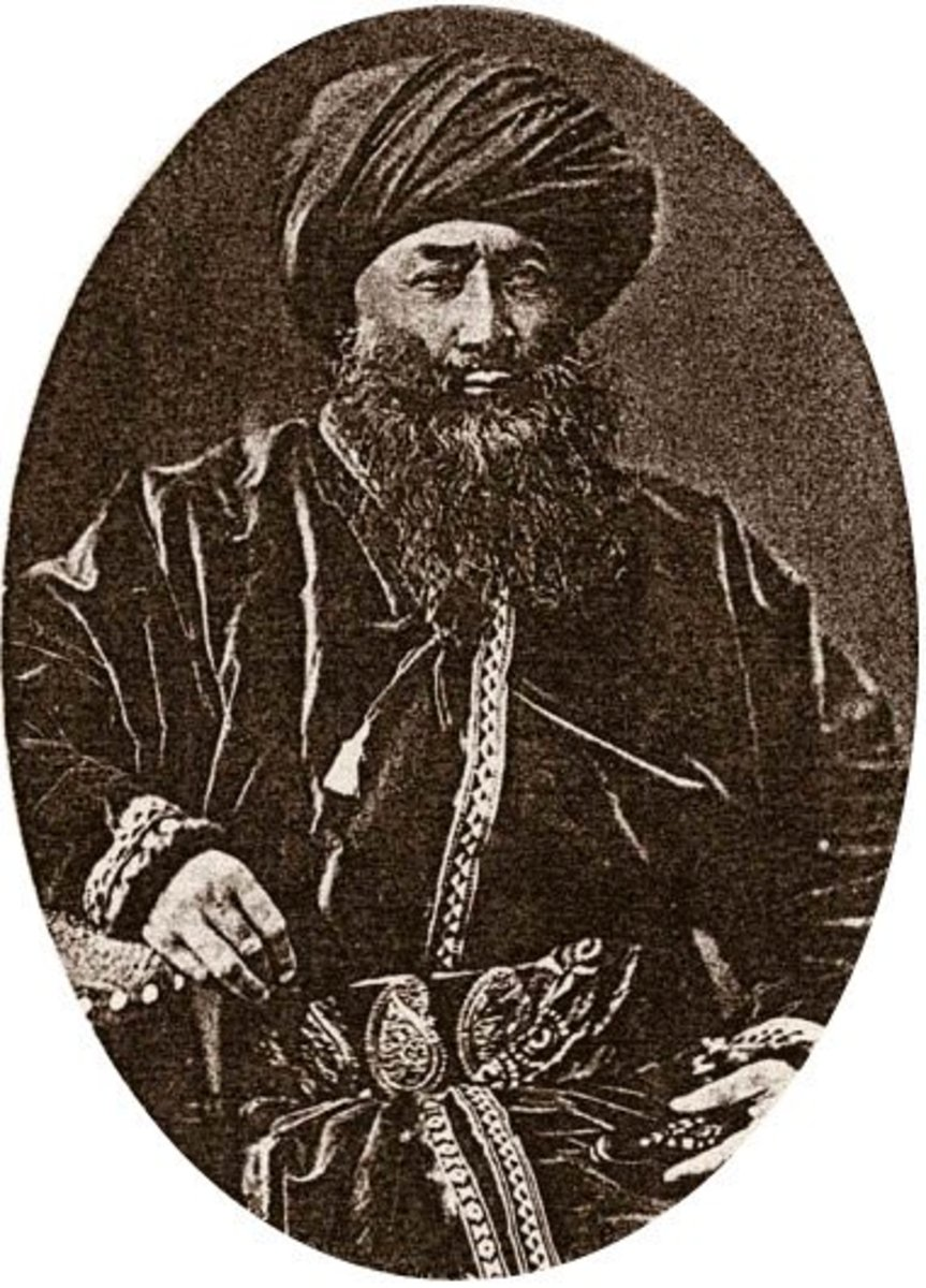Portrait of Yaqub Bek; a major leader of the Dungan Revolt.