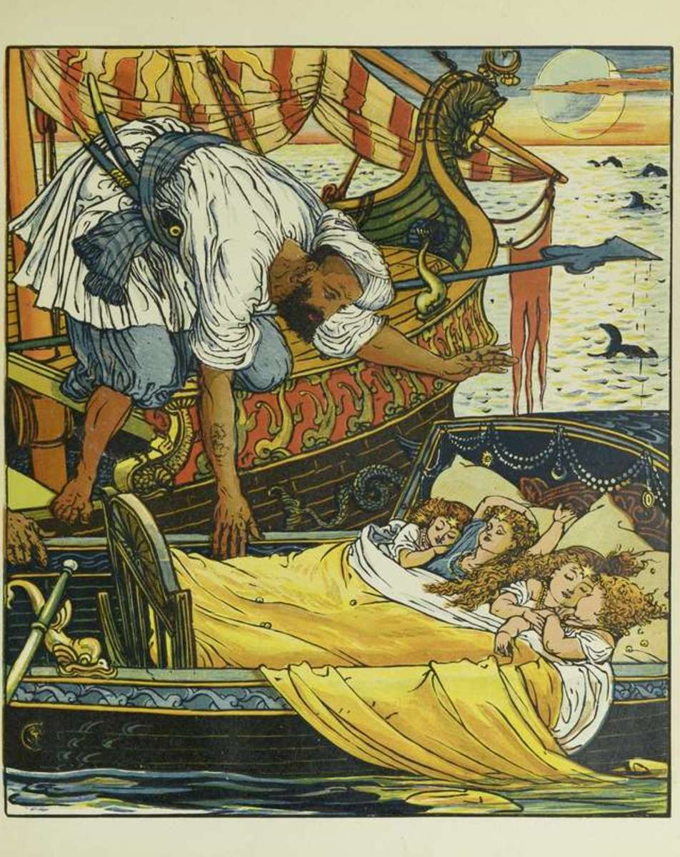 Princess Belle-Etoile, picture by Walter Crane