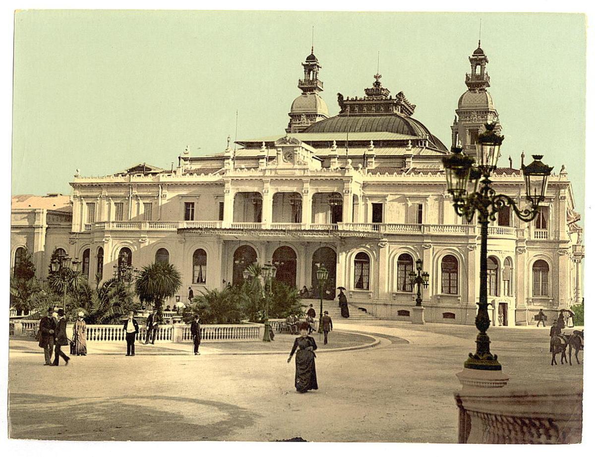 Monte Carlo Casino in about 1900.