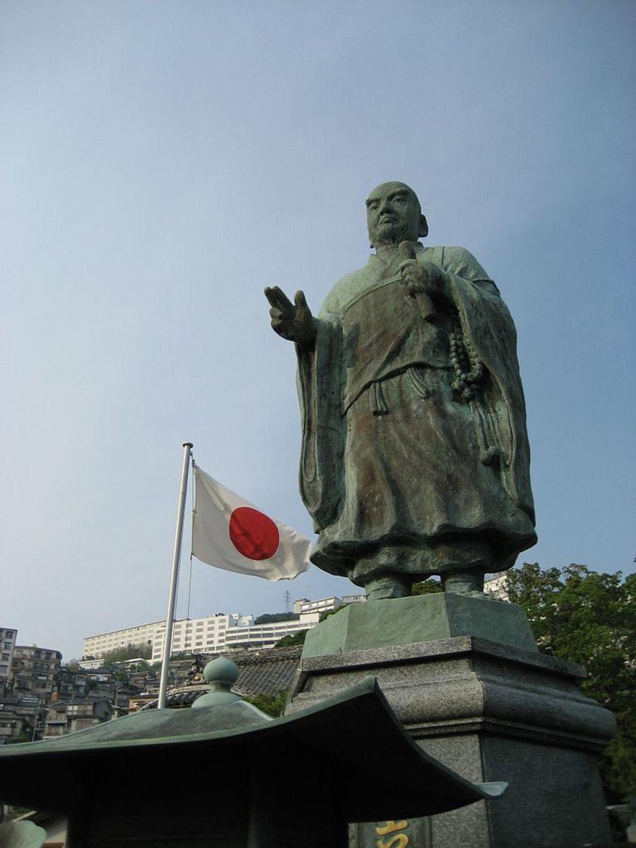 Statue of Master Nichiren at Nagasaki.
