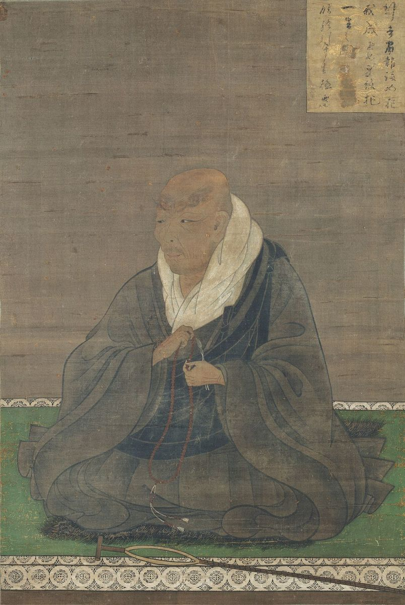 Historical portrait of Master Shinran. He experienced great tribulations in his pathway to enlightenment. He also led a colorful and controversial life unbound from classic Buddhist doctrines.