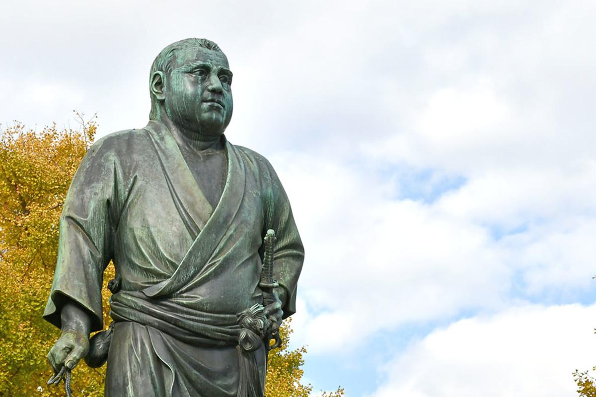 "The famous statue of ""Last Samurai"" Saigō Takamori at Ueno Park, Tokyo."