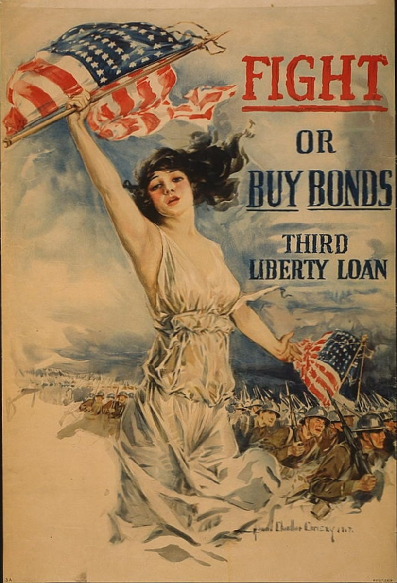 Liberty Loan campaign poster from World War I.