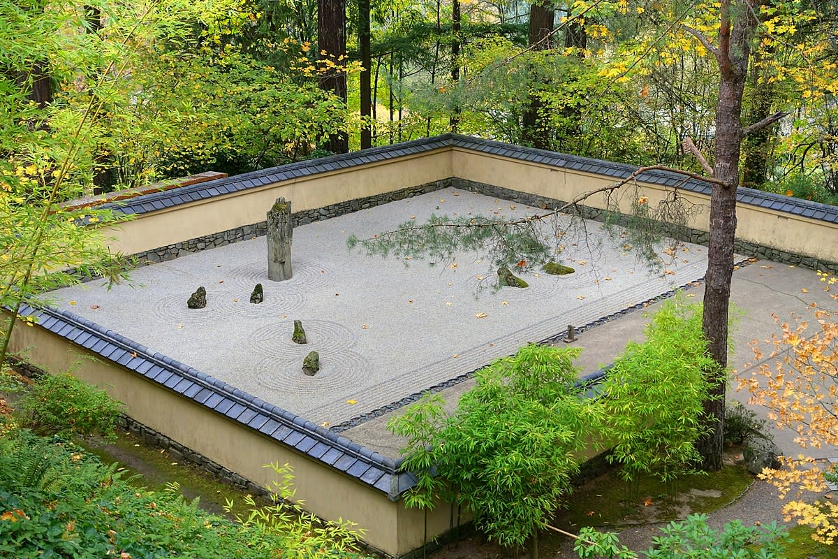 The calm represented by a Japanese sand garden can help relationships over rough circumstances.