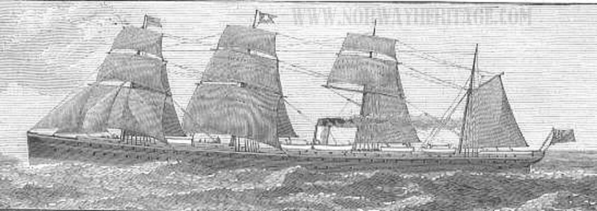Depiction of the RMS Atlantic