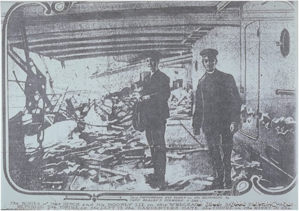 On deck of the RMS Republic after the collision