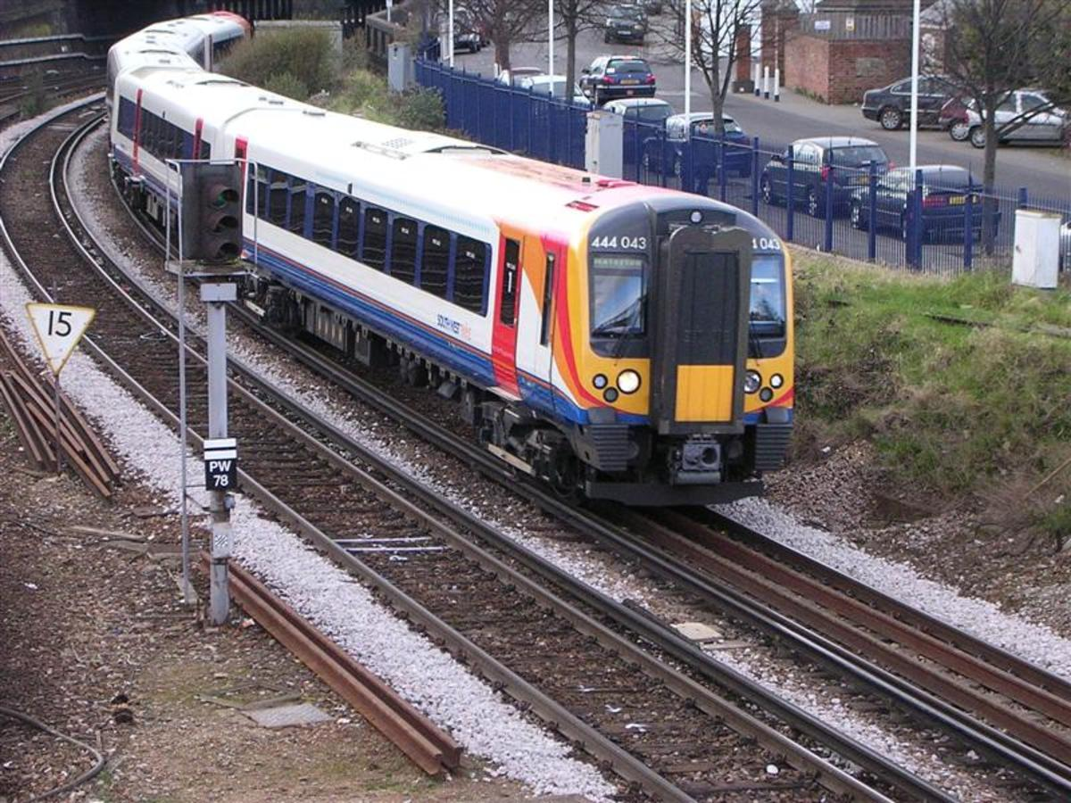 Portsmouth Train Arriving at Fratton
