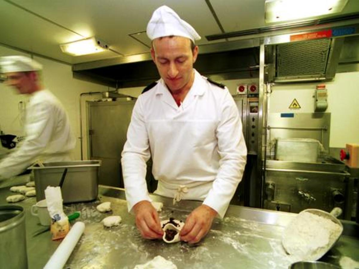 Royal Navy Chef Onboard HMS Ark Royal