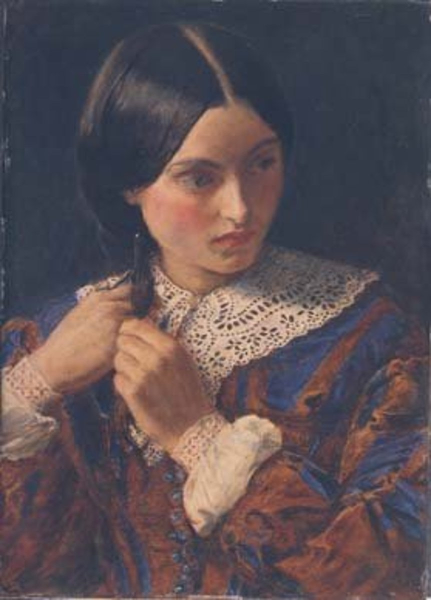 In the 1800s giving a fiance a lock of hair was appropriate; any other man in any other situation was thought improper.