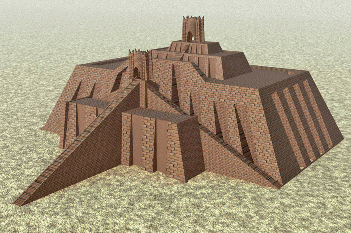 Artist's depiction of the Ziggurat of Ur