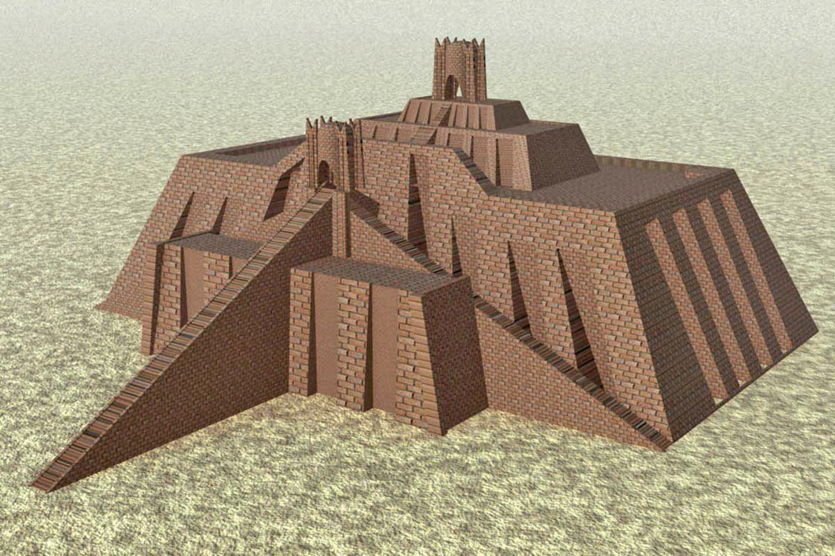 Artist's depiction of Ziggurat of Ur