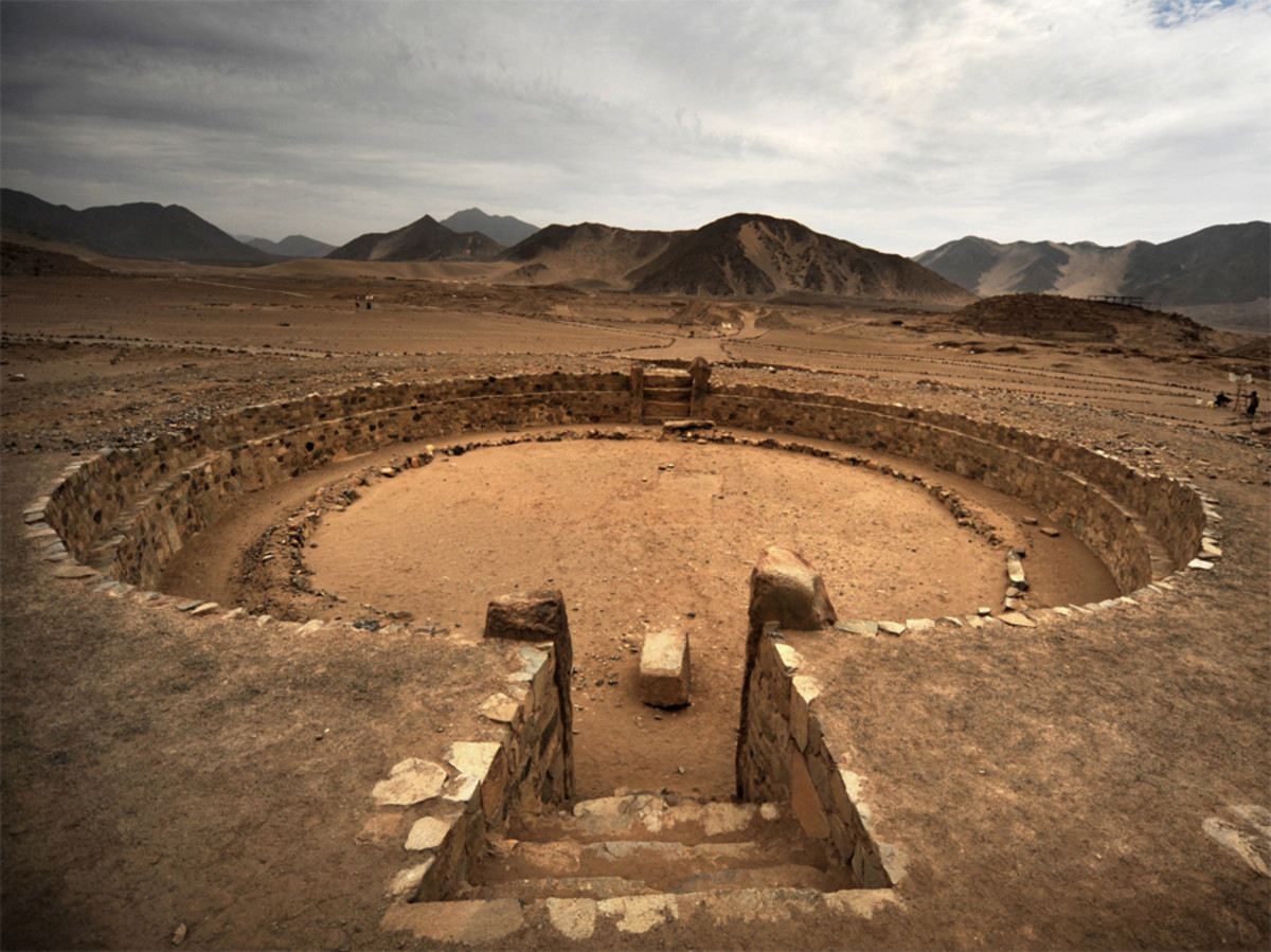 Sunken temple at Caral