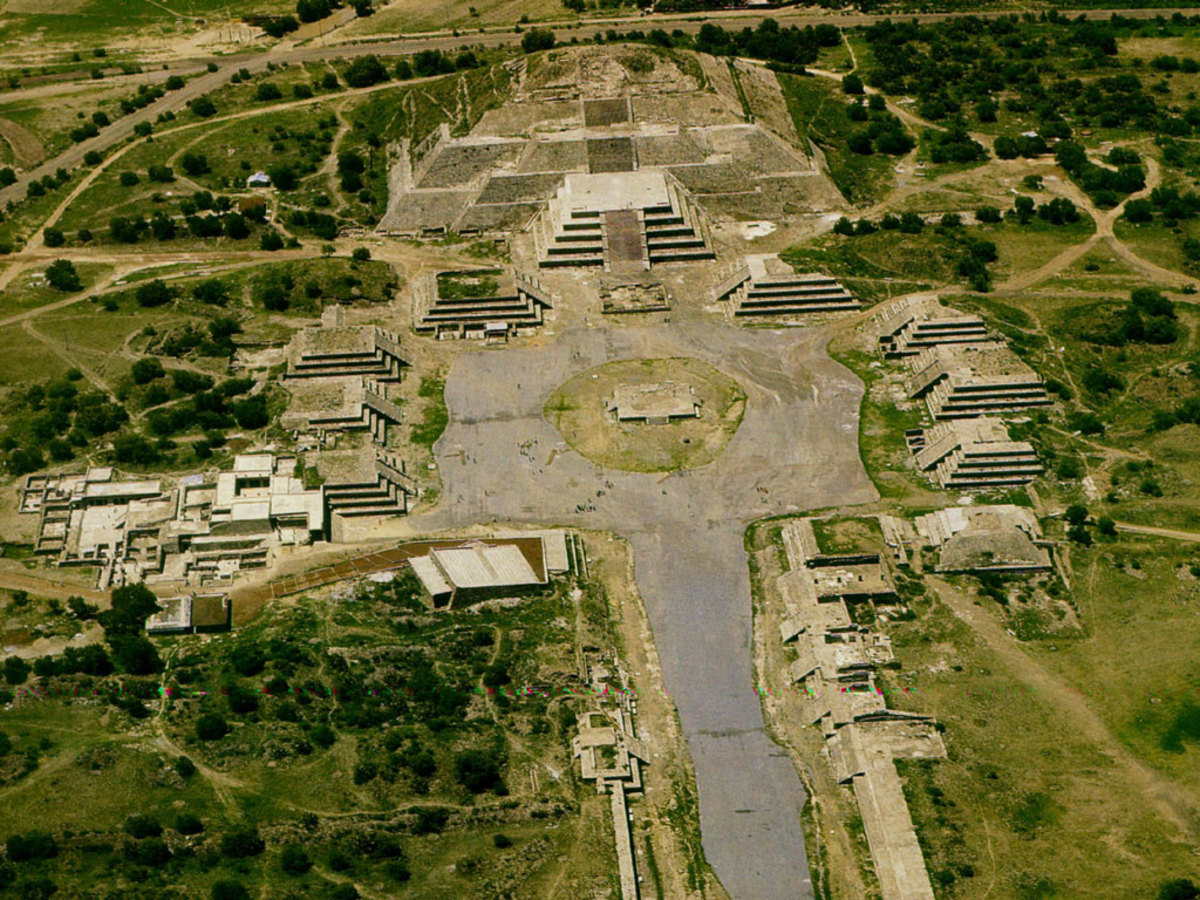Aerial view of Teotihuacán