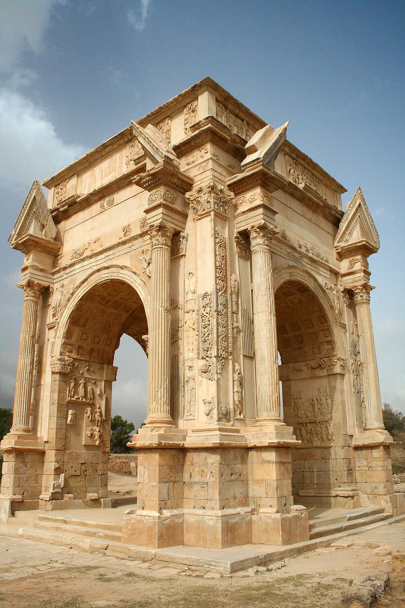 Arch of Septimius Severus at Leptis Magna