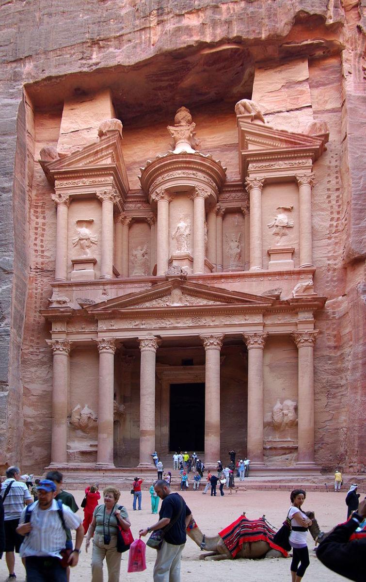 Entrance to the Treasury of Pharaoh at Petra