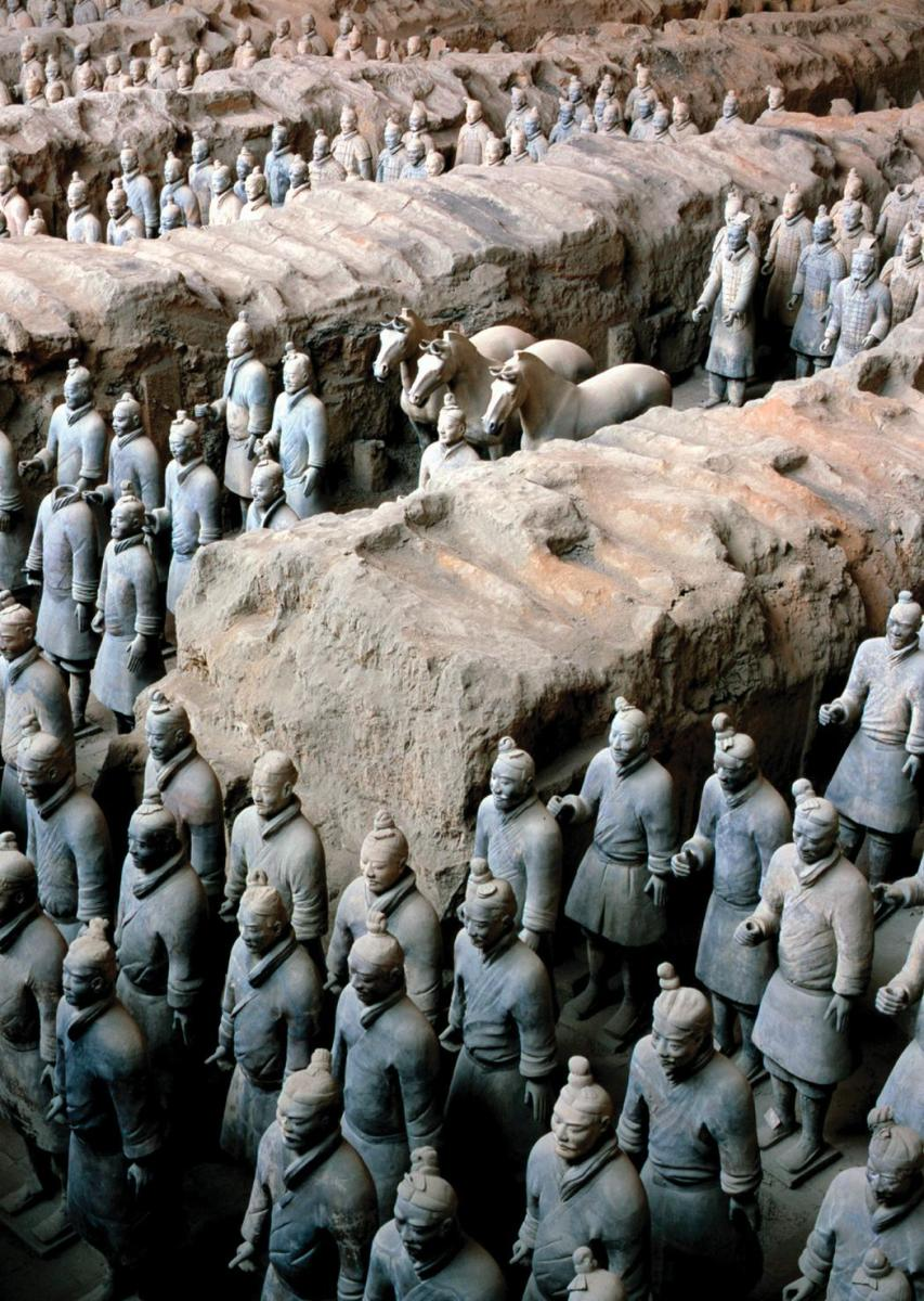 Terracotta warriors found near the tomb of Qin Shi Huangdi
