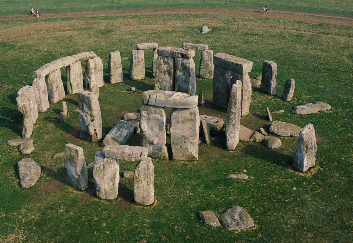 Present day view of Stonehenge