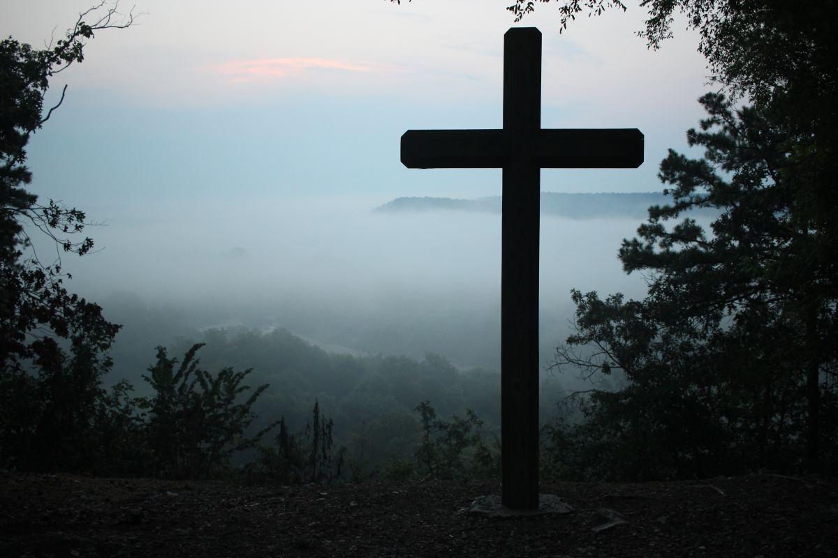The cross on a hill.