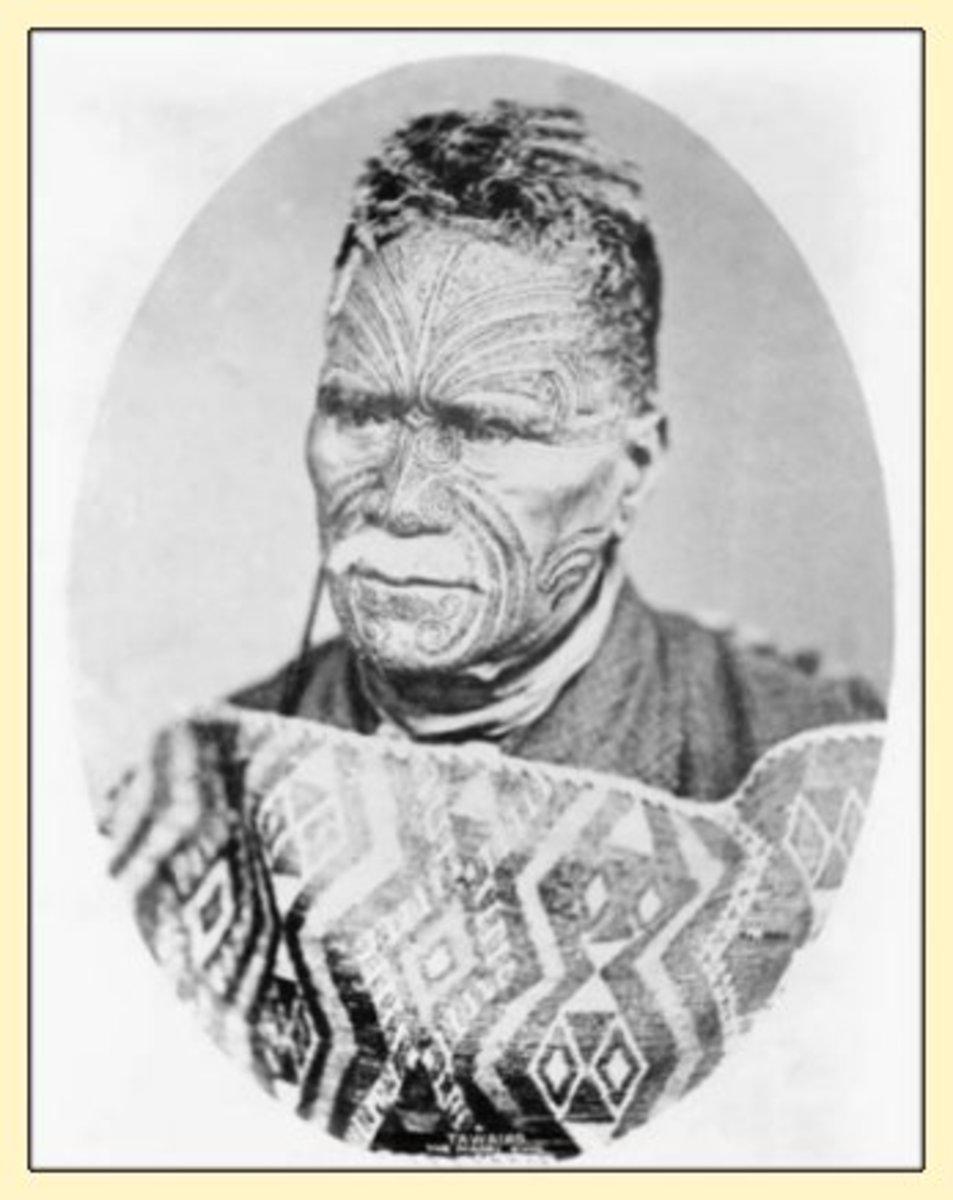 Maori King Tawaiho, 1895 From New Zealand Tourism.