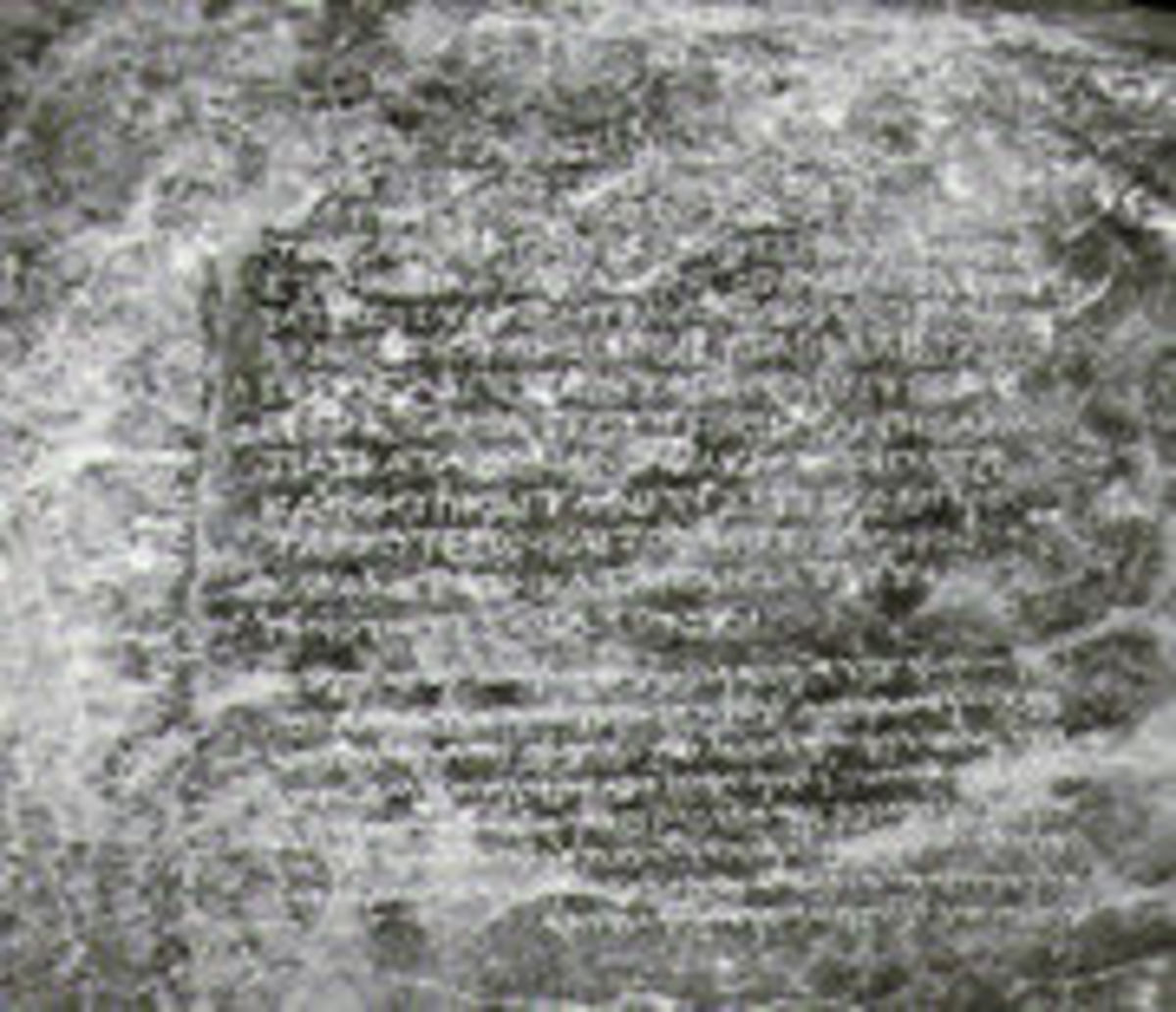 """One of Ashoka's Edict: """"...And the king abstains from (killing) living beings..."""""""