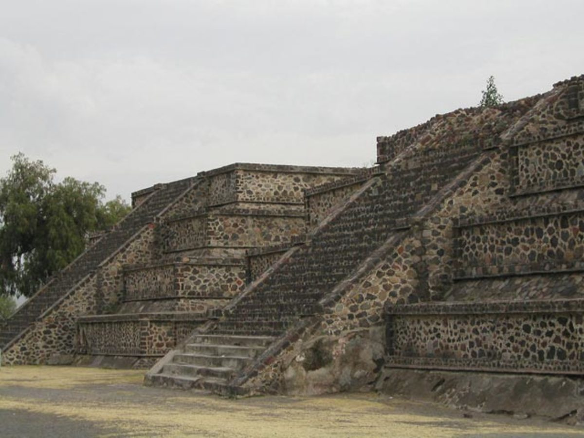 Avenue of the Dead of the Teotihuacans in Mexico