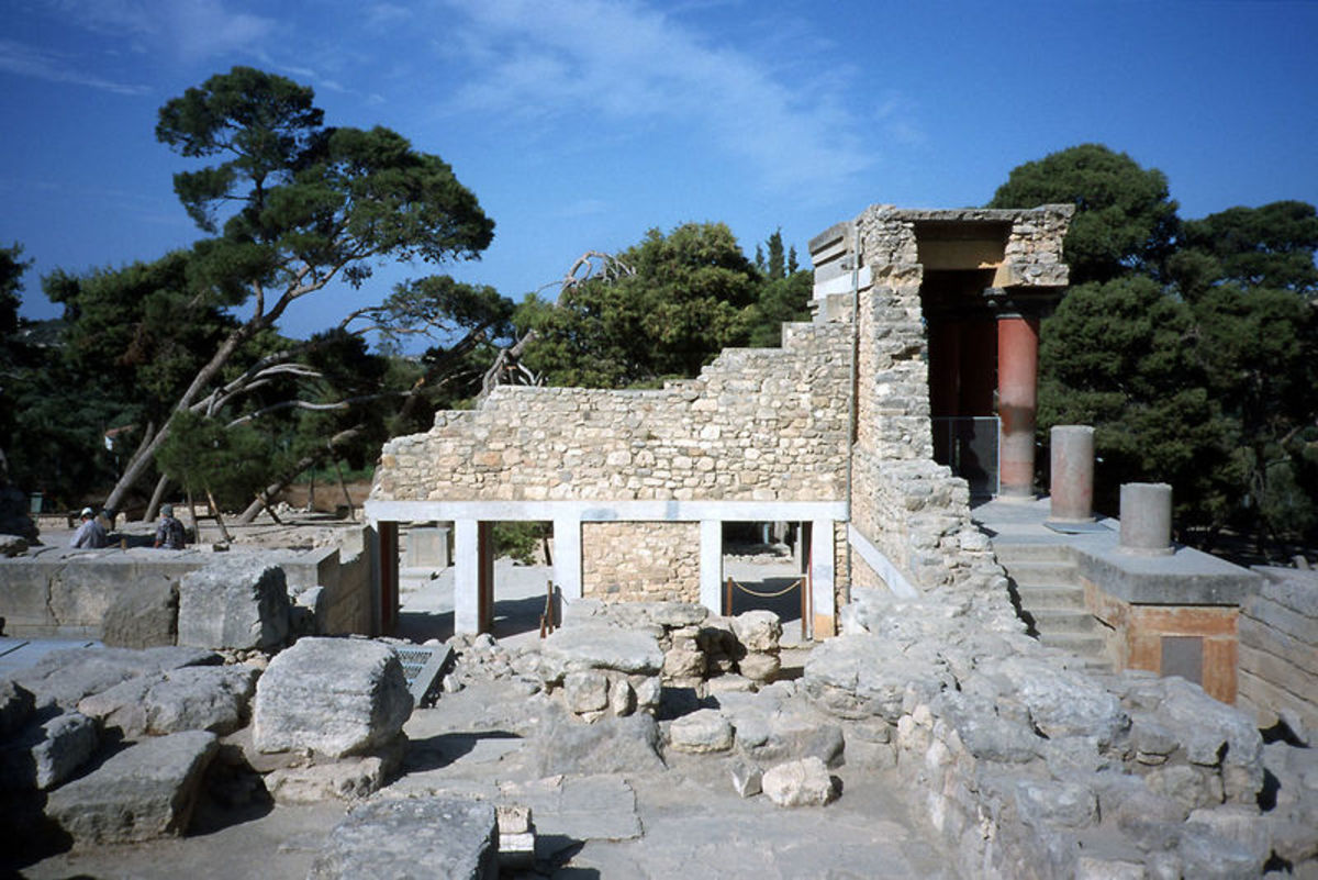 Remains of the Minoan Palace at Knossos