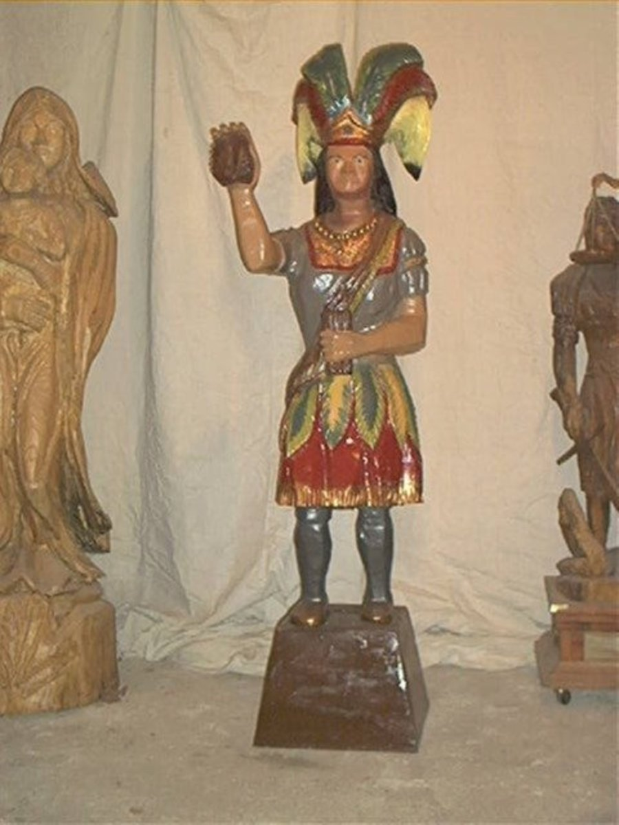 An Overview Of Wooden Cigar Store Indians Owlcation