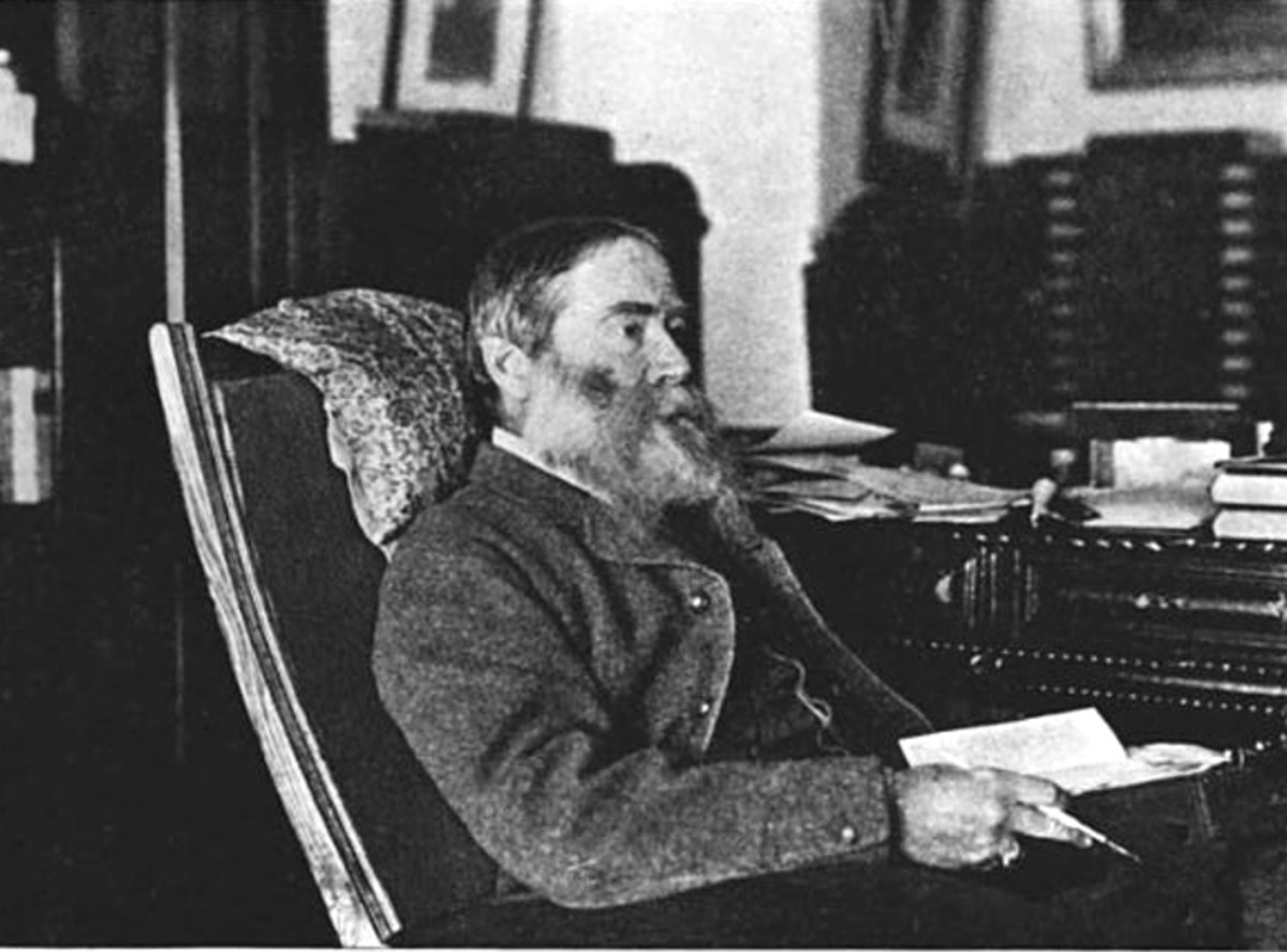 American poet/professor James Russell Lowell Lowell (1819 - 1891), around 1890.