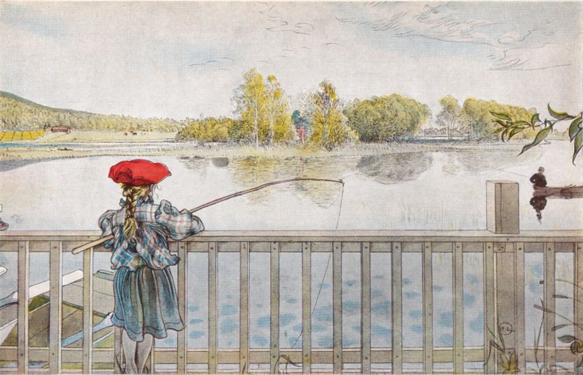 Lisbeth Fishing by Carl Larsson, 1898. Image courtesy of Wiki Commons