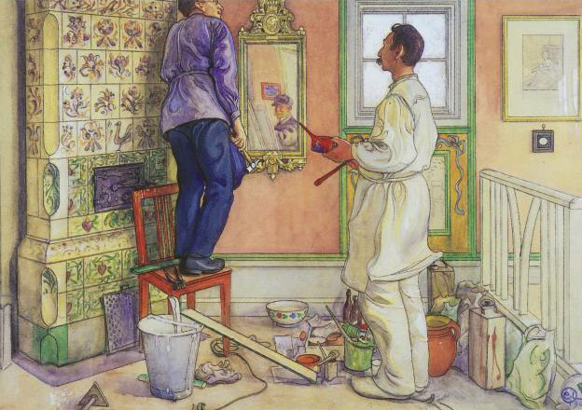 My Friends, the Carpenter and the Painter, by Carl Larsson. Courtesy of Wiki Commons