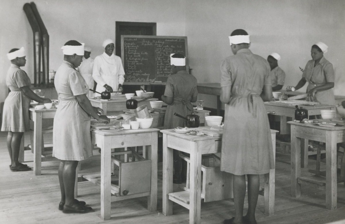 A domestic science class