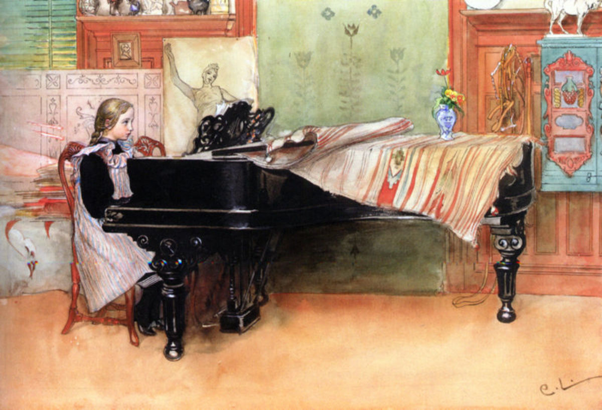 Playing Scales by Carl Larsson. Courtesy of Wiki Commons