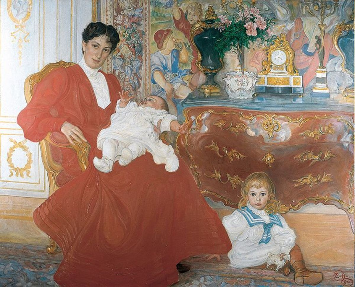 Mrs Dora Lamm & her two eldest sons by Carl Larsson, 1903. Oil on canvas, property of National Museum of Sweden. Courtesy  of Wiki Commons