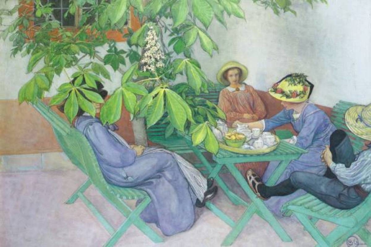 Under the Chesnut Tree by Carl Larsson. Courtesy of Wiki Commons