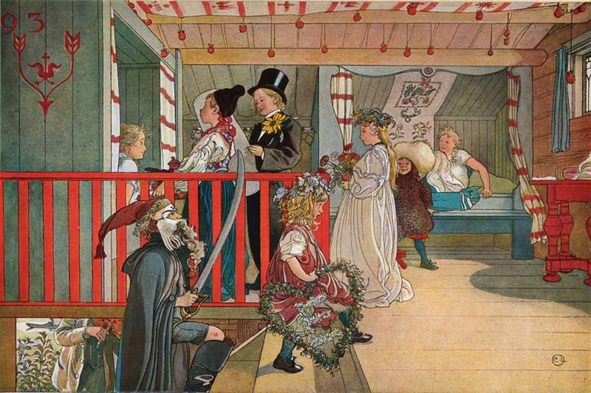 Name Day at the Storage House by Carl Larsson. Image courtesy of Wiki Commons