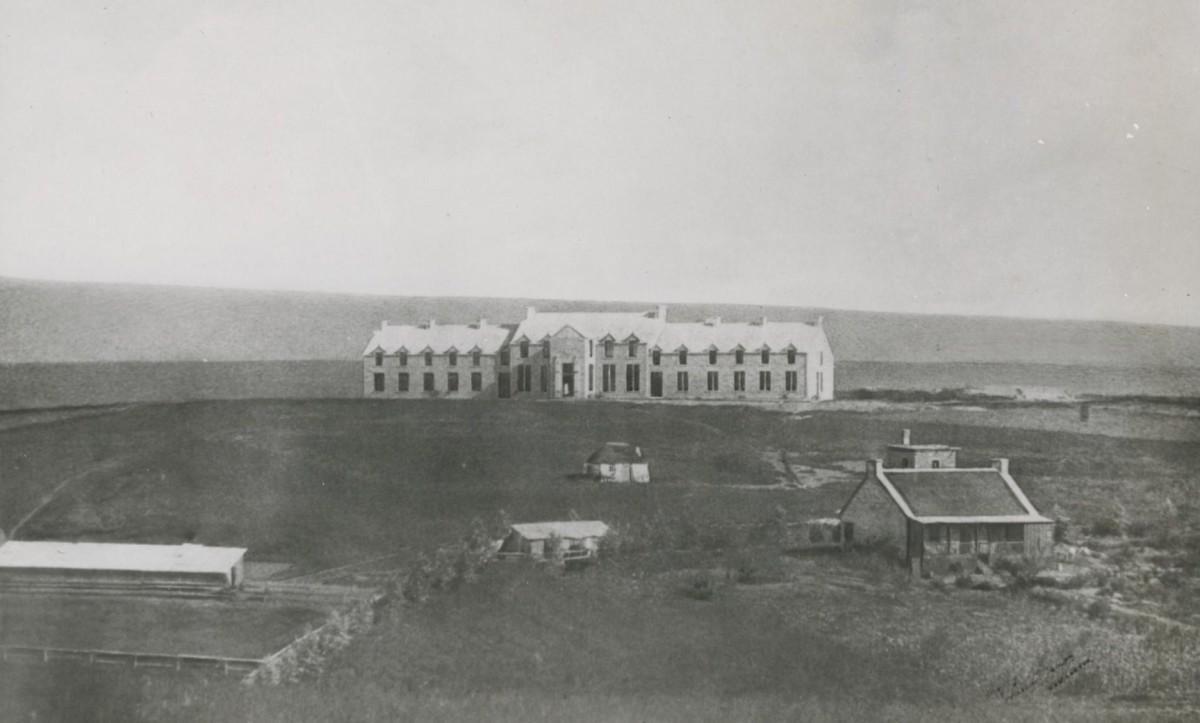 The main building in 1879