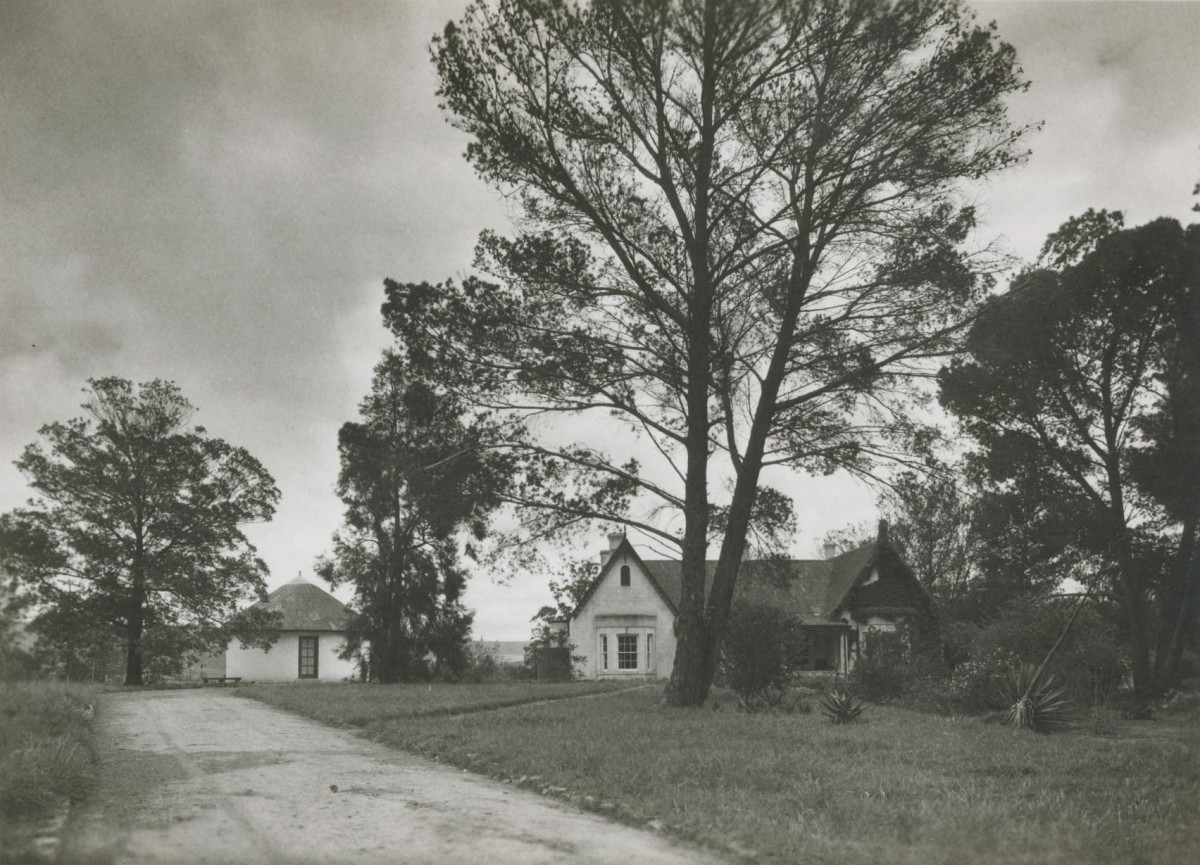 """The Manse at Blythswood. The """"rondavel"""" to the left of the house served as my father's study"""
