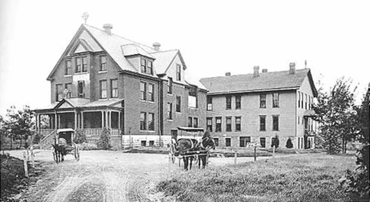 Undated photograph of Christ's Hospital from the Kansas Historical Society.