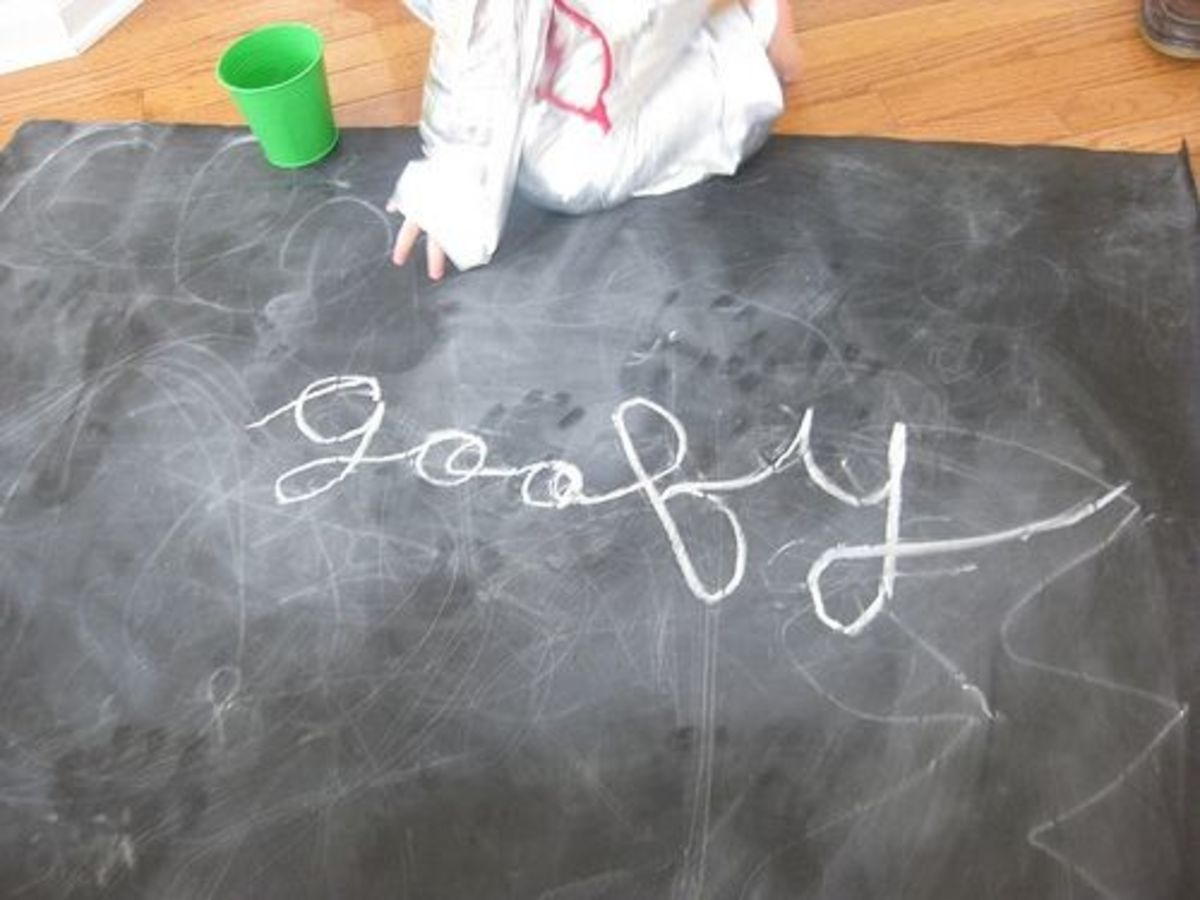 Chalkboards are a great way to practice cursive.