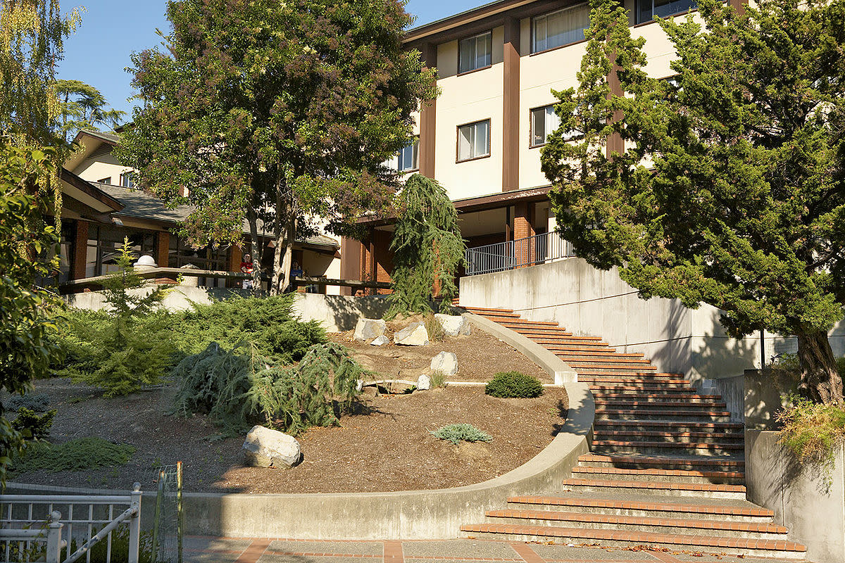 A residence hall at the Dominican University of California