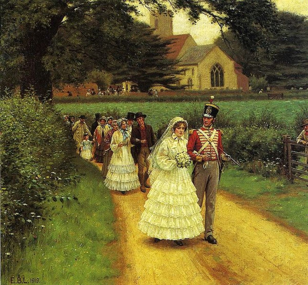 The Wedding March by Edward Blair Leighton 1919 courtesy of Wiki Images