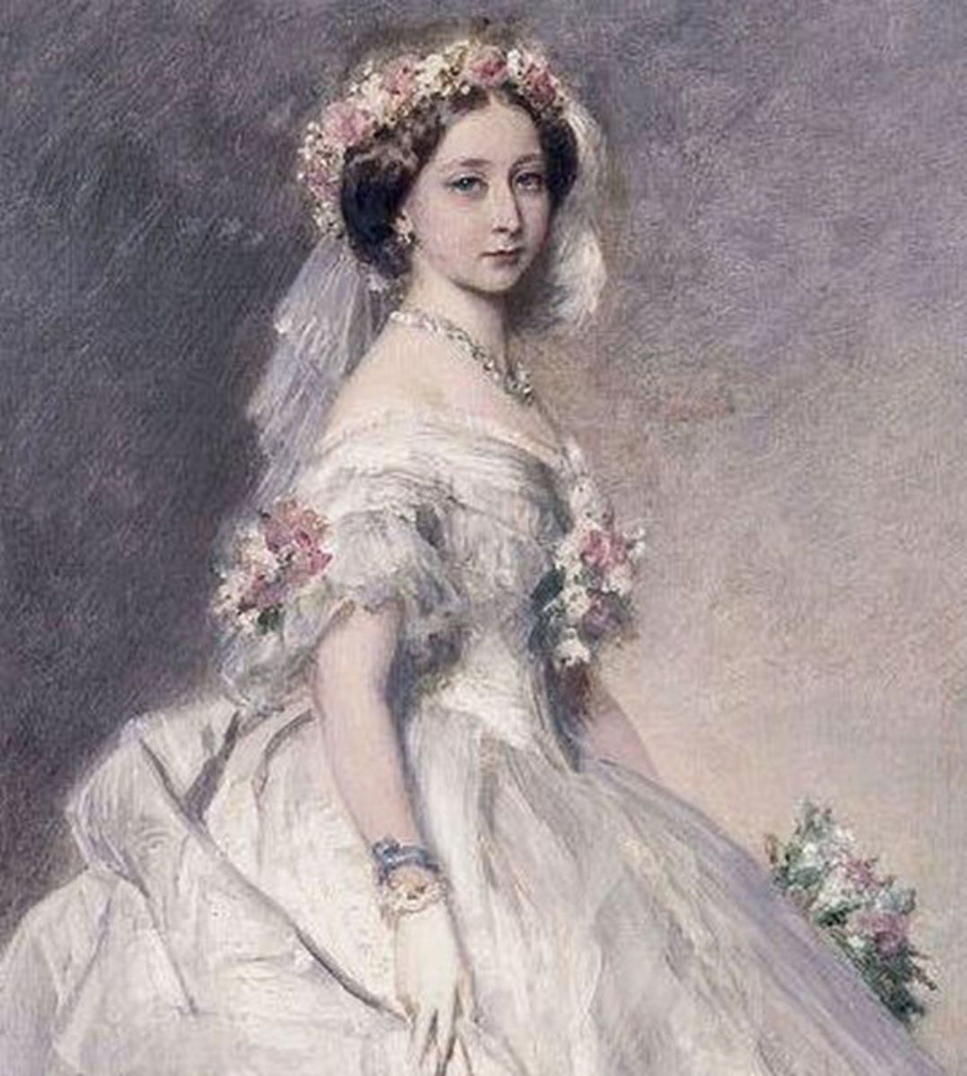 Princess Alice in her Bridal Gown by Franz Xaver Winterhalter, 1862. Courtesy of Wiki Commons