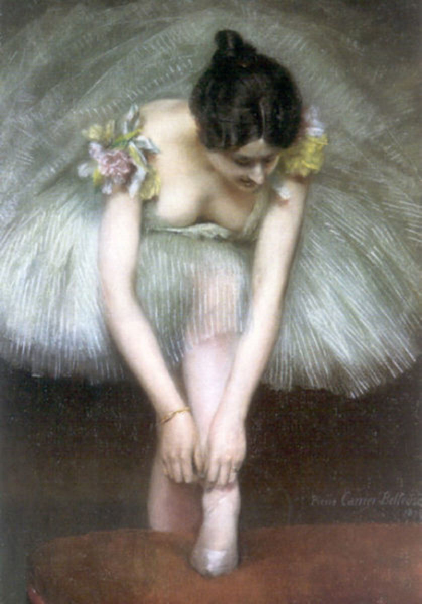 Before the Ballet by Pierre Carrier-Belleuse, 1896. Image courtesy of Wiki Commons