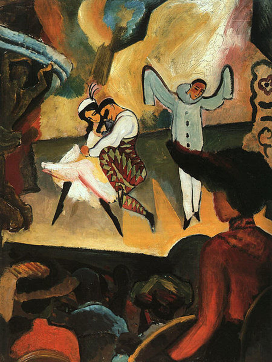 The Russian Ballet by Auguste Macke, 1912. Image courtesy Wiki Commons