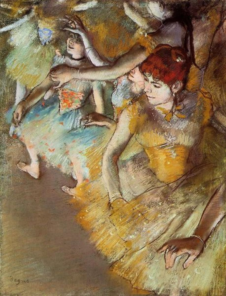 Ballet Dancers on the Stage by Edgar Degas, 1883. This picture is in the Dallas Museum of Arts. Image courtesy of Wiki Commons