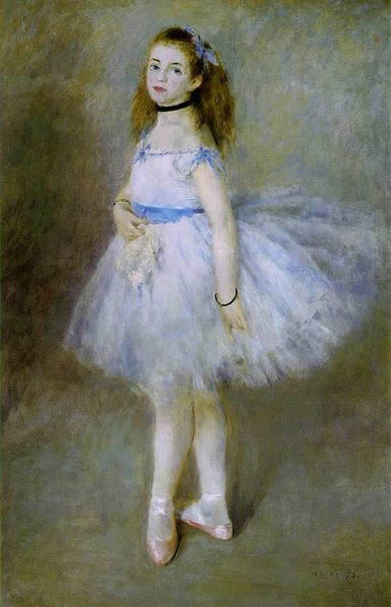 The Dancer by Pierre-Auguste Renoir, 1874, oil on canvas, hangs in the National Gallery of Art in Washington. Image courtesy of Wiki Commons