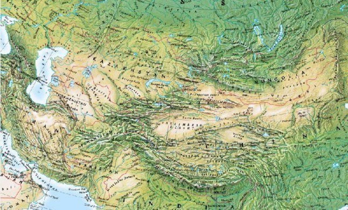 The mountainous southern margin of Asia.