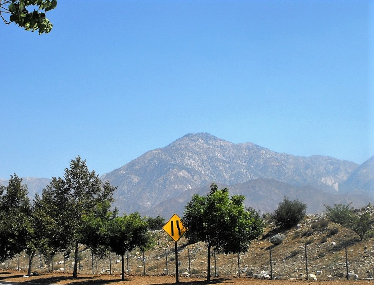 Looking Towards the San Gabriel Mountains.